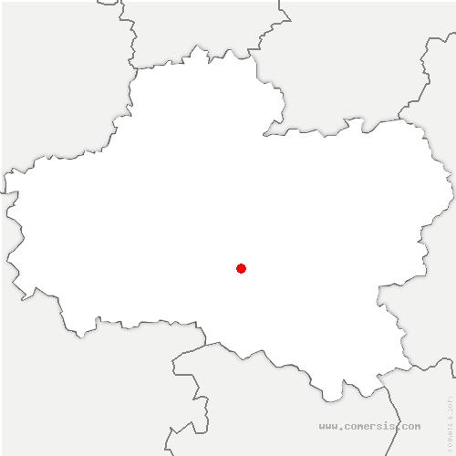 carte de localisation de Bray-Saint Aignan