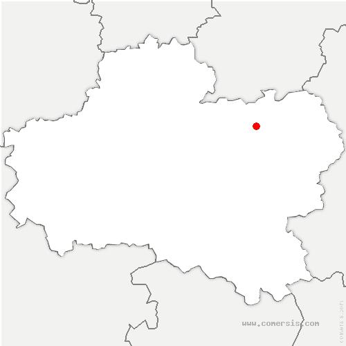 carte de localisation de Cepoy
