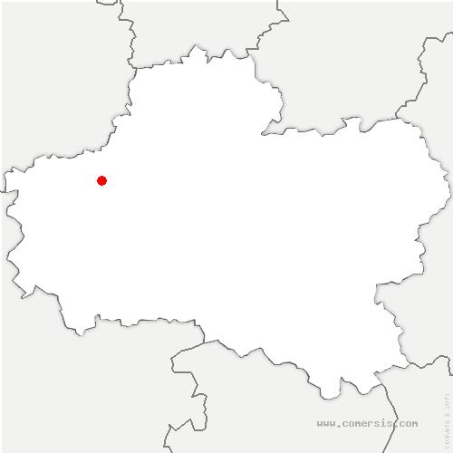 carte de localisation de Cercottes