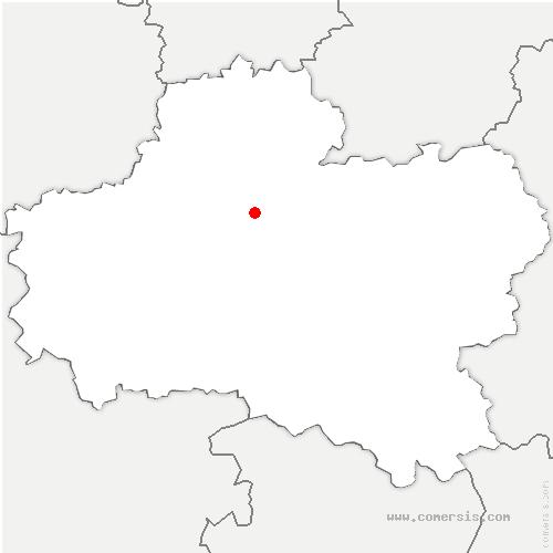 carte de localisation de Chambon-la-Forêt