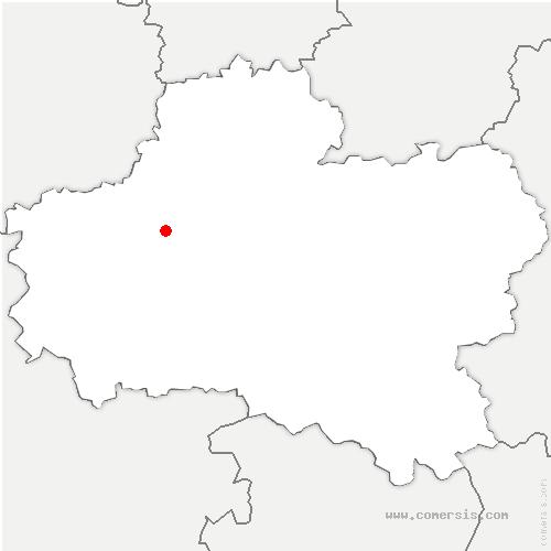 carte de localisation de Chanteau