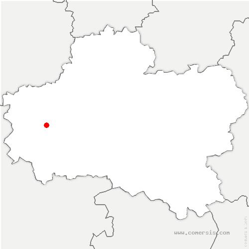 carte de localisation de Chapelle-Saint-Mesmin