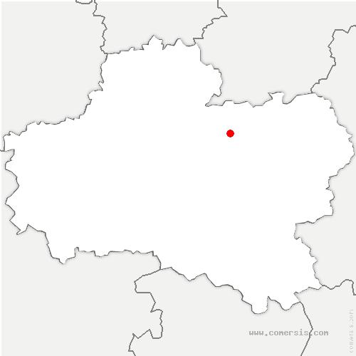 carte de localisation de Chapelon