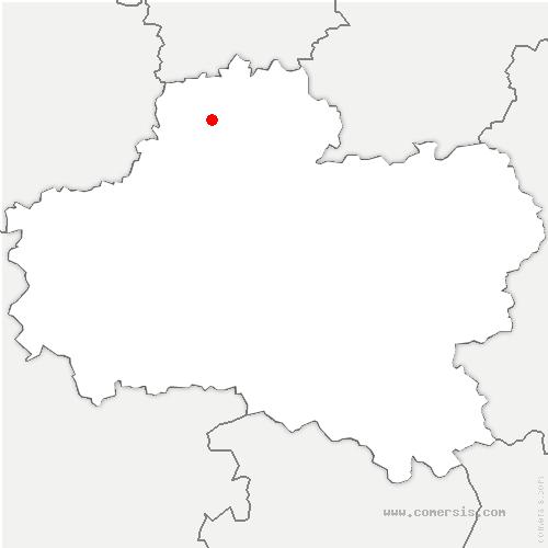 carte de localisation de Charmont-en-Beauce