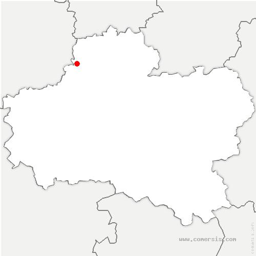 carte de localisation de Chaussy