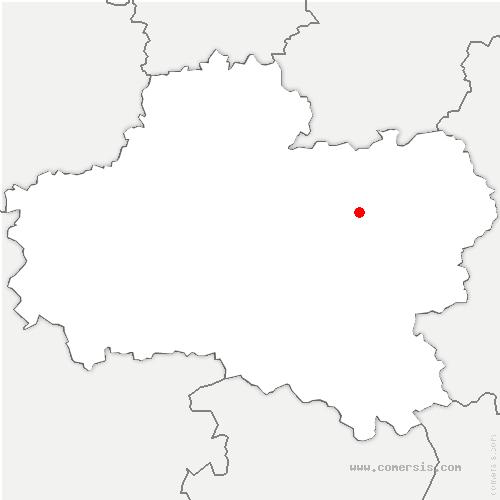 carte de localisation de Chevillon-sur-Huillard