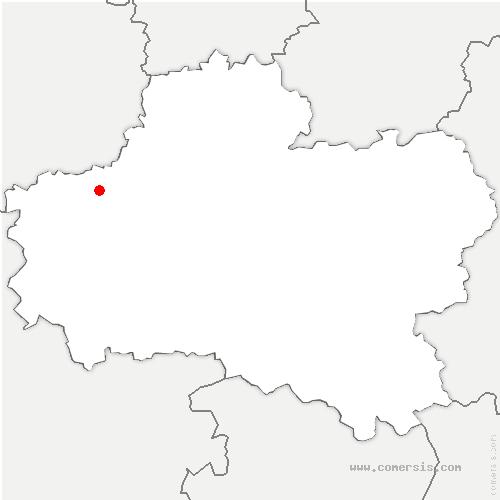 carte de localisation de Chevilly