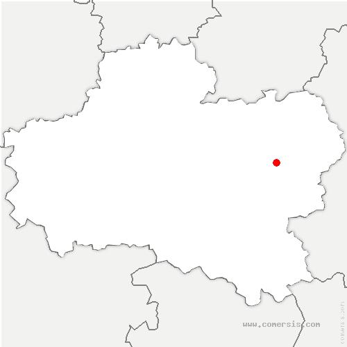 carte de localisation de Conflans-sur-Loing