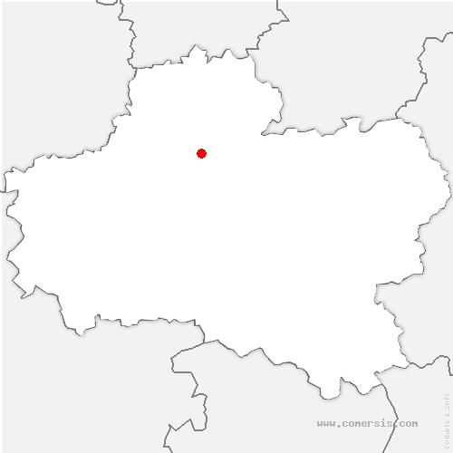 carte de localisation de Courcy-aux-Loges