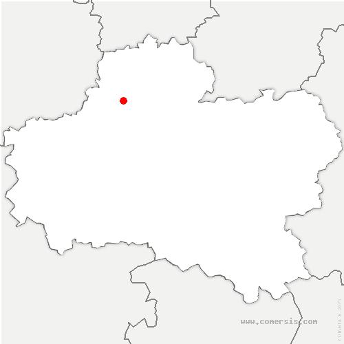 carte de localisation de Crottes-en-Pithiverais