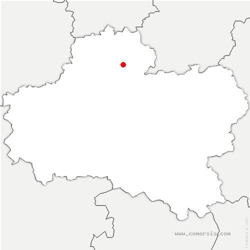 carte de localisation de Dadonville