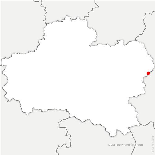 carte de localisation de Douchy-Montcorbon