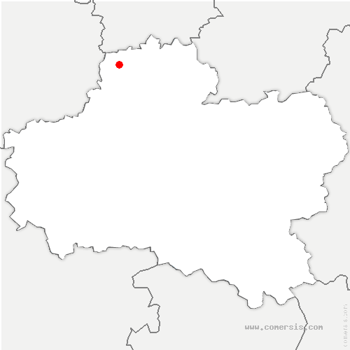 carte de localisation de Erceville