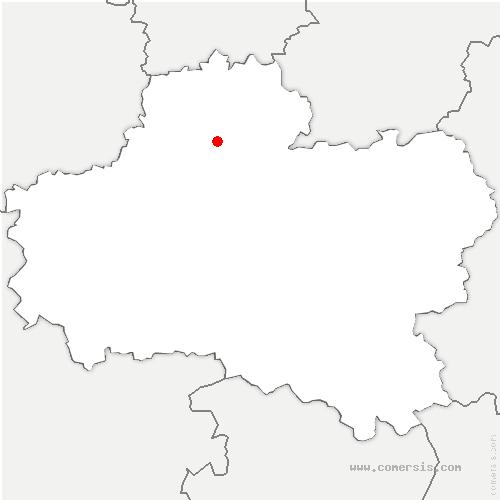 carte de localisation de Escrennes