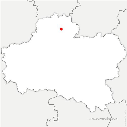 carte de localisation de Estouy