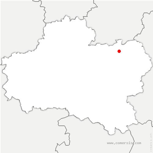 carte de localisation de Fontenay-sur-Loing