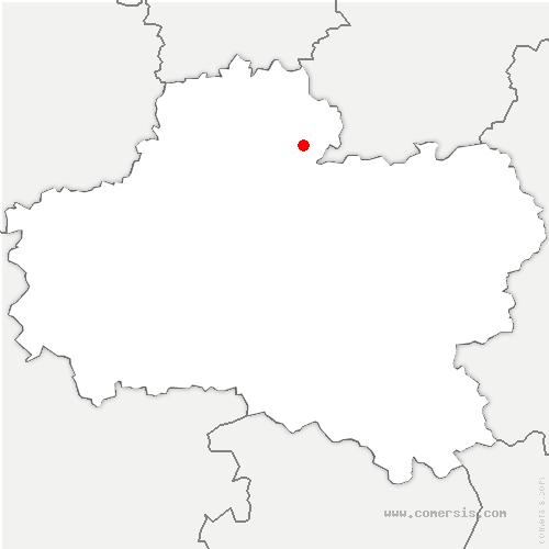 carte de localisation de Givraines