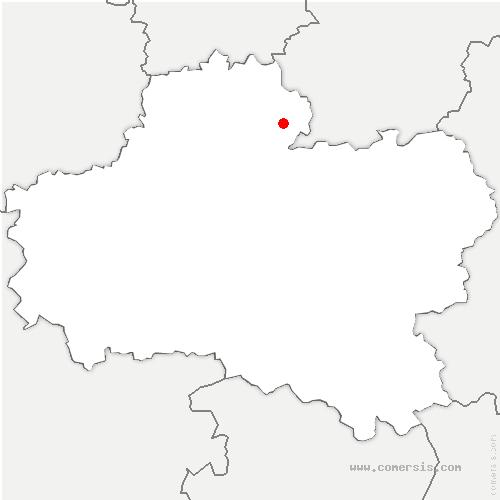 carte de localisation de Grangermont
