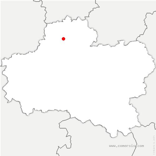 carte de localisation de Greneville-en-Beauce