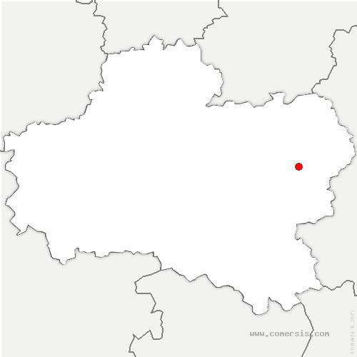 carte de localisation de Gy-les-Nonains