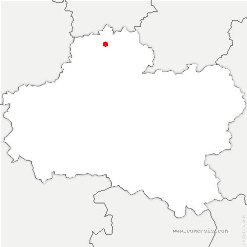 carte de localisation de Intville-la-Guétard
