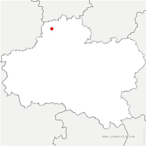 carte de localisation de Léouville