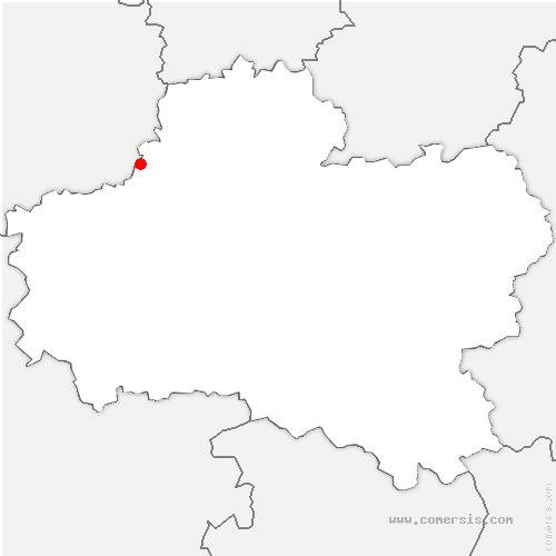 carte de localisation de Lion-en-Beauce