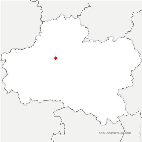 carte de localisation de Loury