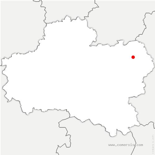 carte de localisation de Louzouer