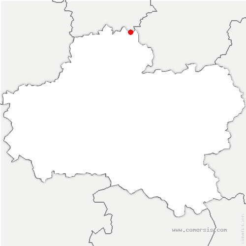 carte de localisation de Malesherbois