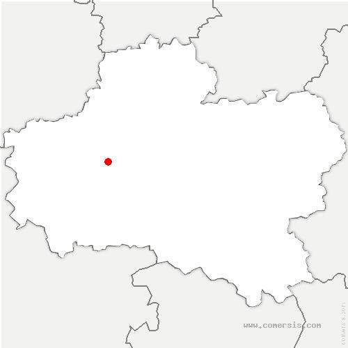 carte de localisation de Marigny-les-Usages