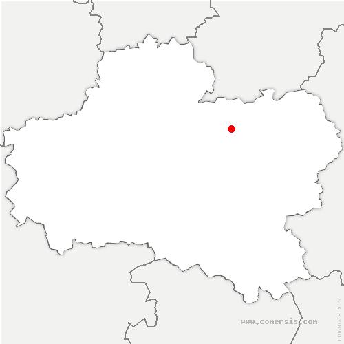 carte de localisation de Mignères