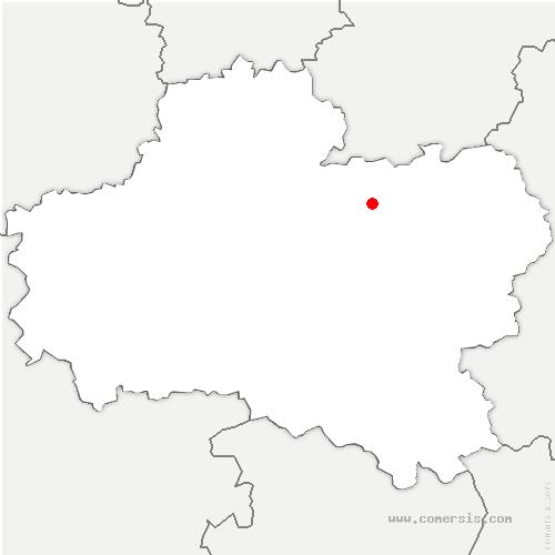 carte de localisation de Mignerette