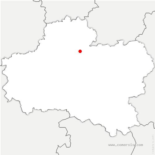 carte de localisation de Nancray-sur-Rimarde
