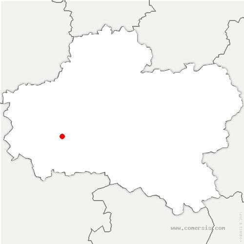 carte de localisation d'Olivet