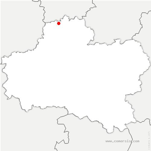 carte de localisation de Pannecières