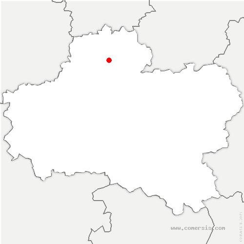 carte de localisation de Pithiviers-le-Vieil