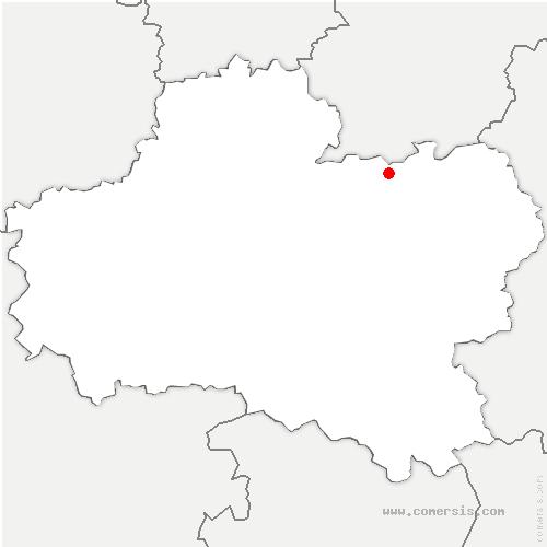 carte de localisation de Préfontaines