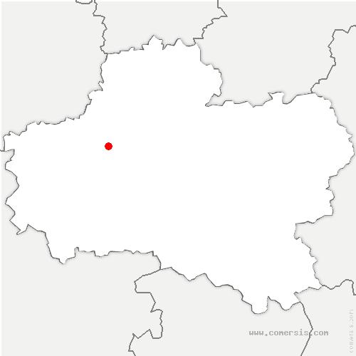 carte de localisation de Rebréchien
