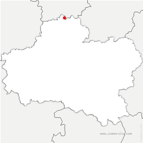 carte de localisation de Rouvres-Saint-Jean