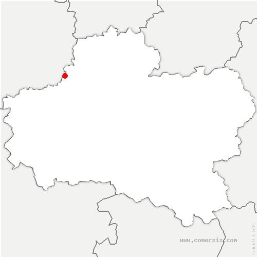 carte de localisation de Ruan