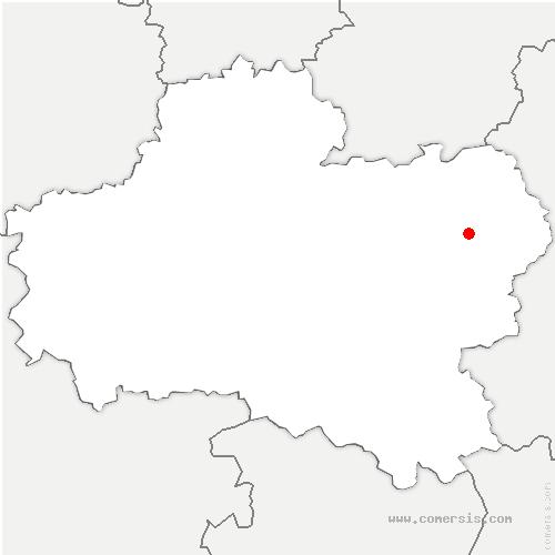 carte de localisation de Saint-Germain-des-Prés