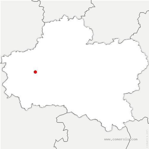 carte de localisation de Saint-Jean-de-la-Ruelle