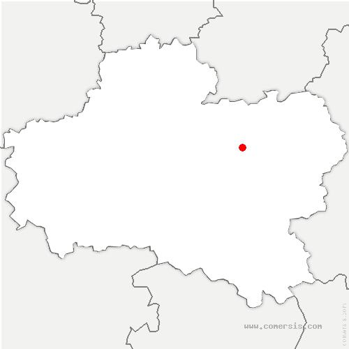 carte de localisation de Saint-Maurice-sur-Fessard