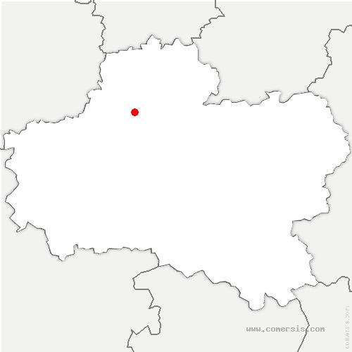 carte de localisation de Santeau