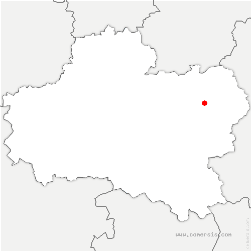 carte de localisation de Selle-en-Hermoy