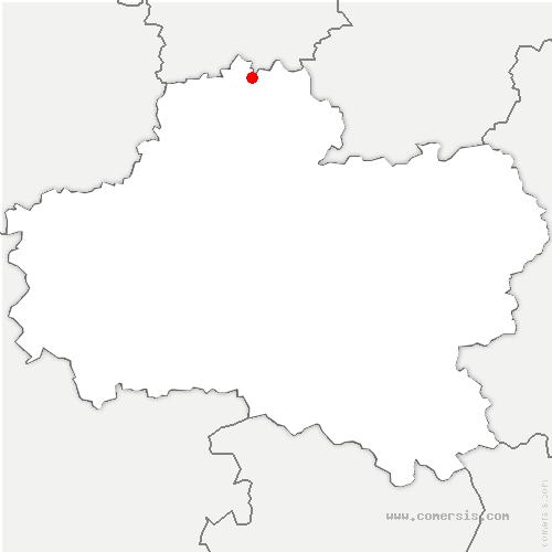 carte de localisation de Sermaises