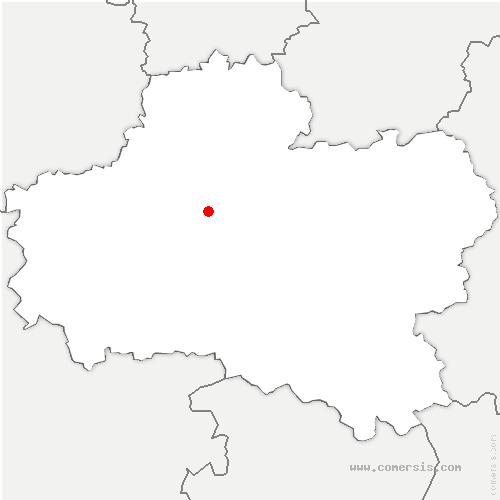 carte de localisation de Sully-la-Chapelle