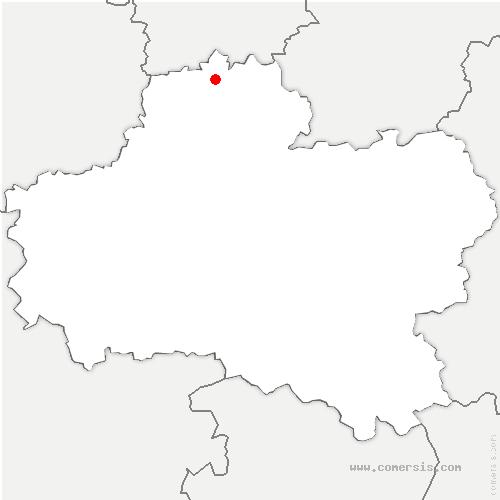 carte de localisation de Thignonville