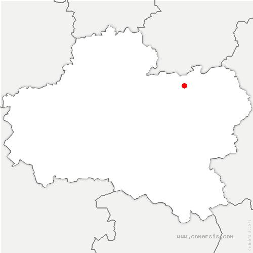 carte de localisation de Treilles-en-Gâtinais